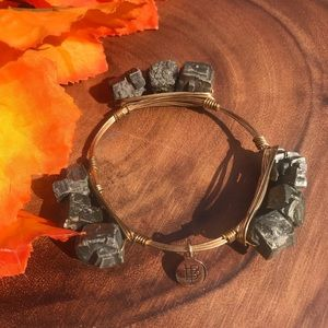 Bourbon & Bowties Pyrite Wrapped Wired Bracelet